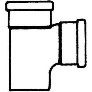 Trench Tough Plus™ 6 x 6 x 4 in. Socket x Gasket Reducing SDR 35 PVC Sewer Tee Wye MUL043589