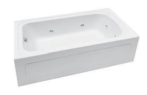 PROFLO® Plus A Series 72 x 42 in. Whirlpool Alcove Bathtub Right Drain in White PFW7242ARSKWH
