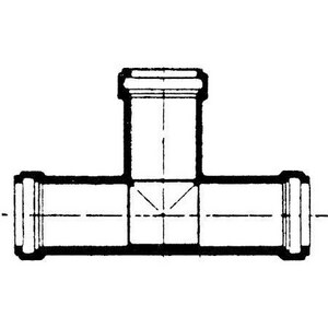 Harrington Corporation 8 in. Gasket IPS Straight SDR 21 PVC Tee PPRGTX