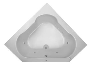 PROFLO® Grass Valley 60 x 60 in. Soaker Corner Bathtub with Left Drain in White PFWPLUSA6060LWH