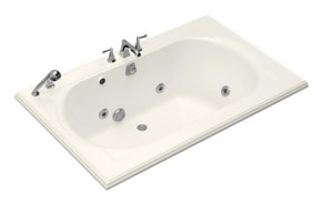 Kohler Memoirs® 66 x 42 in. Whirlpool Drop-In Bathtub with Reversible Drain in Biscuit K1170-H2-96