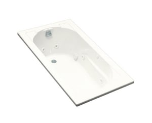 Kohler Devonshire® 60 x 32 in. Thermal Air Drop-In Bathtub with Reversible Drain in White K1357-H