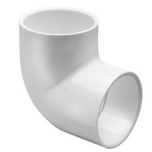 16 in. Socket Straight Schedule 40 PVC 90 Degree Elbow S406160F