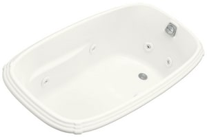 Kohler Portrait® 60 x 32 in. Drop-In Whirlpool with Reversible Drain and Heater K1014-H2