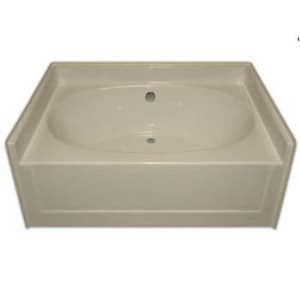 Aquarius Industries Luxury 60 x 42 in. Center Drain 6-Jet Whirlpool in White AG6042TOAPFDCWPWHT