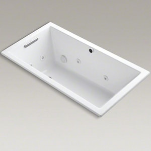 Kohler Underscore® 60 x 32 in. Whirlpool Drop-In Bathtub in White K1168-H2-0
