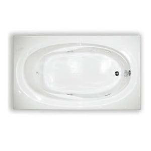 Aquarius Industries Contractors Advantage 60 x 34 in. Tub and Shower with Right Hand Drain in Biscuit ARNTAHI6WPRBS