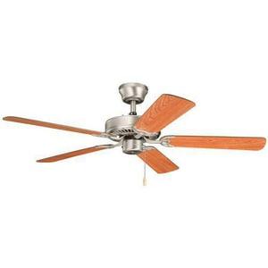 Kichler Lighting Sterling Manor™ 52 in. 5-Blade Cherry/Walnut Ceiling Fan in Brushed Nickel KK339010NI7