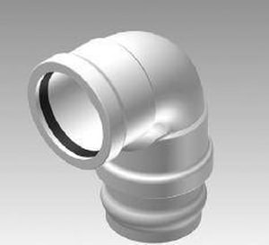 Harrington Corporation 6 in. Sewer Deep Drop Connector Straight SDR 18 PVC 90 Degree Elbow for C900 Pipe H29020