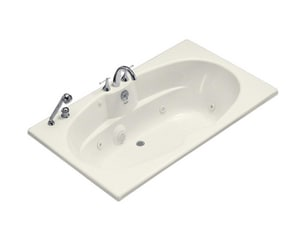 Kohler ProFlex® 72 x 42 in. Drop-In Whirlpool with Custom Pump Location with Reversible Drain K1131-CE