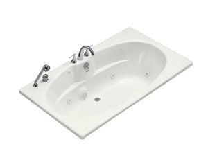 KOHLER ProFlex® 72 x 42 in. 3 Wall Alcove Acrylic Bathtub with Integral Apron and Right Drain in White K1131-FH-0