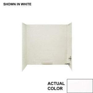 Swan Corporation ADA High Gloss Tub Shower Wall Kit in White SHA58WH