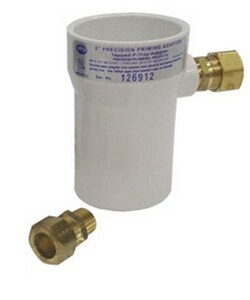 Precision Plumbing Products 2 x 1/2 in. PVC x OD Compression DWV and Reducing Schedule 40 PVC PPA Adapter PPPA2P500
