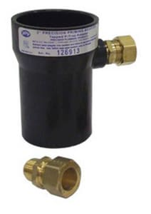 Precision Plumbing Products 2 x 1/2 in. ABS x OD Compression DWV and Reducing Schedule 40 ABS PPA Adapter PPPA2A500