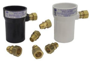 Precision Plumbing Products 3 x 5/8 in. ABS x OD Compression DWV and Reducing Schedule 40 ABS PPA Adapter PPPA3A625