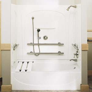 Sterling Acclaim® 60 x 31-1/2 in. Tub and Shower Hand Drain in White S710951030
