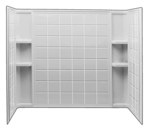 Sterling Ensemble™ 60 x 77-1/4 in. Tub & Shower Wall  in White S711241000