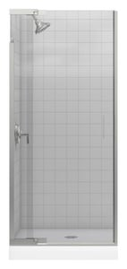 Kohler Purist® 72-3/8 x 30 in. Frameless Shower Door with Crystal Clear Glass in Vibrant Brushed Nickel K702010-L-BN