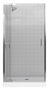 Kohler Purist® 72-3/8 x 39 in. Frameless Shower Door with Crystal Clear Glass in Bright Silver K702012-L-SH