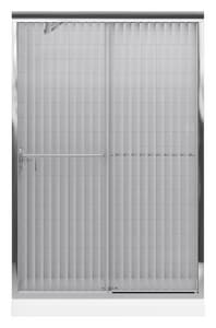 KOHLER Fluence® 47-5/8 x 70-5/16 in. Sliding Shower Door with 1/4 in. thick Falling Lines Glass in Bright Polished Silver K702208-G54