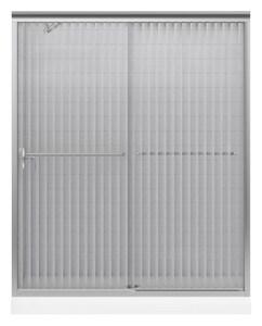 KOHLER Fluence® 55-3/4 x 59-63/100 in. Frameless Sliding Bath Door in Matte Nickel K702204-G54-MX