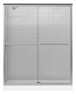 KOHLER Fluence® 55-3/4 x 59-63/100 in. Frameless Sliding Bath Door in Matte Nickel K702204-L-MX
