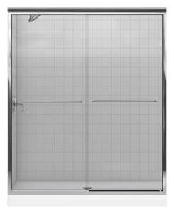 KOHLER Fluence® 59-5/8 x 70-5/16 in. Frameless Shower Door in Bright Polished Silver K702206-L-SHP