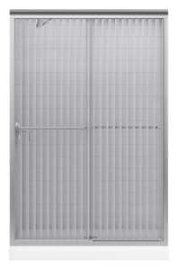 KOHLER Fluence® 47-5/8 x 70-5/16 in. Sliding Shower Door with 1/4 in. thick Falling Lines Glassin Matte Nickel K702208-G54-MX