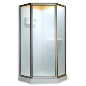 American Standard Prestige® 68-1/2 x 24-1/4 x 24 in. Framed Shower Door with Clear Glass in Silver AAMOPQF1400213