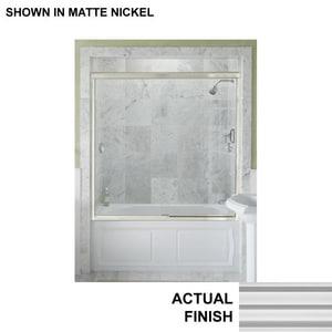 KOHLER Devonshire® 58-5/16 x 59-5/8 in. Frameless Sliding Bath Door with Crystal Clear Glass in Bright Silver K704410-L-SH