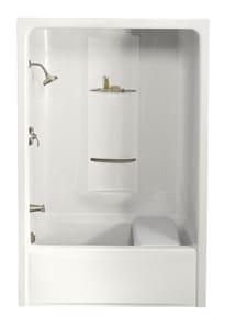 Kohler Sonata® 60 x 34-13/16 in. Tub & Shower with Left Drain in White K1681