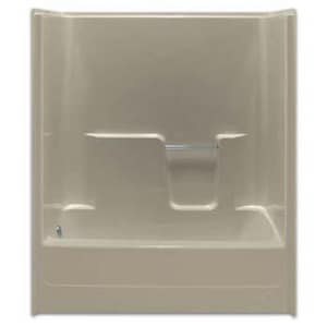 Aquarius Industries Luxury 60 in. Left-Hand Fiberglass Reinforced Plastic Tub and Shower in White AG6030TSCSLWH
