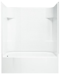 Sterling Accord® 60 x 30 in. Vikrell Left Hand Drain Tub and Shower in White S711401160