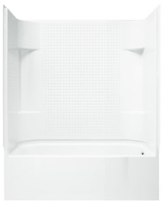 Sterling Accord® 60 x 30 in. Vikrell Right Hand Drain Tub and Shower with Age in Place Backers in White S711401260