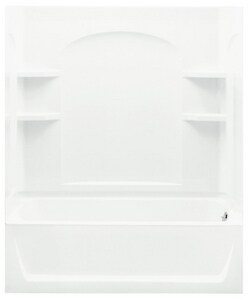 Ensemble™ 74 x 60 x 32 in. Vikrell Right Hand Drain Tub and Shower in White S712201200