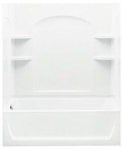 Sterling Ensemble™ 60 x 32 in. Vikrell Left Hand Drain Tub and Shower in White S712201100