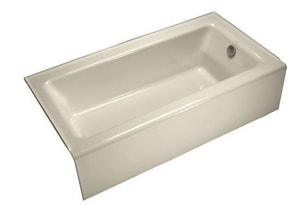 KOHLER Bellwether® 60 x 32 in. Soaker Alcove Bathtub Right Drain in Almond K876-47