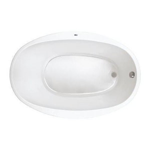 PROFLO® Lansford 58 x 38 in. Soaker Drop-In Bathtub with End Drain in White PFS5838WH
