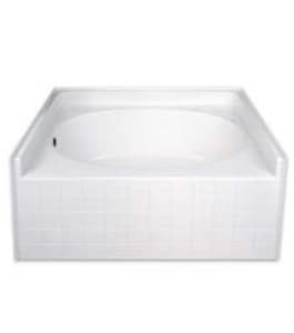 Hamilton Bathware 60 x 42 in. Tub and Shower with Left Hand Drain HG4260TOTILELWH