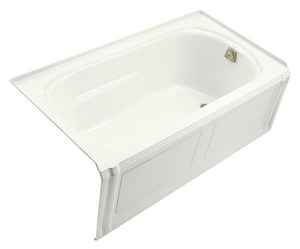 Kohler Portrait® Alcove Bathtub with Apron and Tile Flange and Right-Hand Drain in White K1108-RA