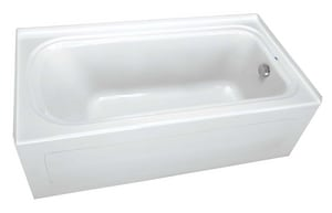 PROFLO® Plus Series 72 x 36 x 19-3/4 in Soaker Alcove Bathtub with Left Drain in White PFS7236LSK