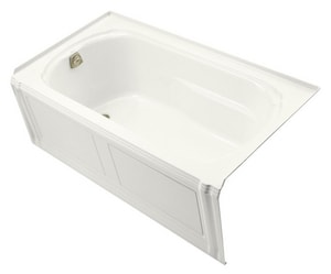 Kohler Portrait® Alcove Bathtub with Apron and Tile Flange and Left-Hand Drain in White K1108-LA