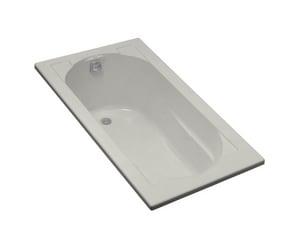 Kohler Devonshire® 60 x 32 in. Drop-In Bathtub with End Drain in Ice Grey K1184-95