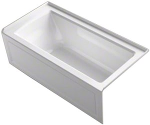 KOHLER Archer® 60 x 30 in. Soaker Alcove Bathtub with Left Drain in White K1946-LA-0