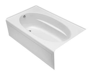 Kohler Windward® 60 x 42 x 21 in Soaker Alcove Bathtub with Left Drain in White K1113-LA-0