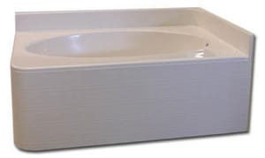 Spurlin Industries 59-1/2 x 42 in. Bathtub with Right-Hand Drain in White SNFTO6042DARWH