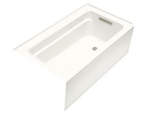 KOHLER Archer® 60 x 32 in. Soaker Alcove Bathtub Right Drain in Ice™ Grey K1123-RA-95