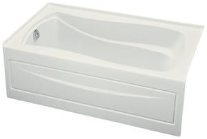 KOHLER Mariposa® 60 x 36 in. Soaker Alcove Bathtub Left Drain in White K1242-LA-0