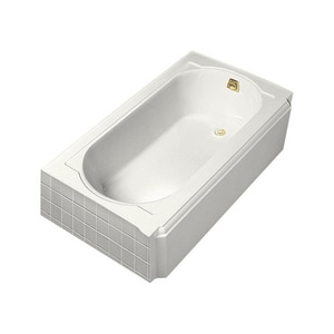 Kohler Memoirs® 60 x 33-3/4 x 17-7/16 in Soaker Alcove Bathtub with Right Drain in White K722