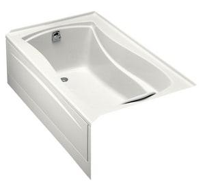 KOHLER Mariposa® 60 x 36 in. Soaker Alcove Bathtub Left Drain in White K1242-L-0